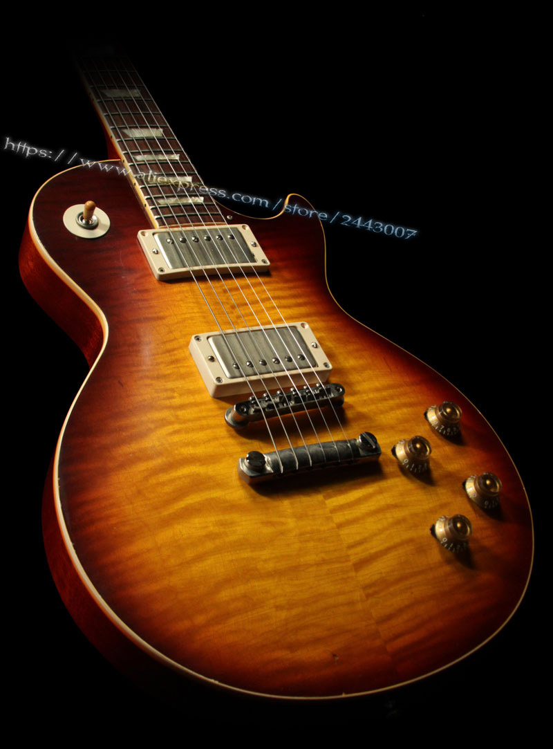 Pre-Order GC Custom Shop 1959 Duane Allman Electric Guitar, Aged Heritage Darkburst by Tom Murphy gc collector s choice 8 1959 bernie marsden the beast electric guitar dirty lemon