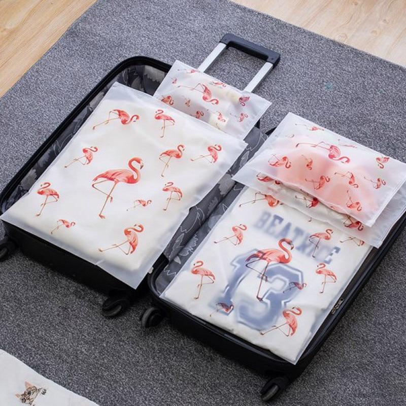 Transparent Plant Cosmetic Bag Travel Makeup Case Women Zipper Make Up Organizer Storage Pouch Wash Toiletry Kit Beauty Bath Box