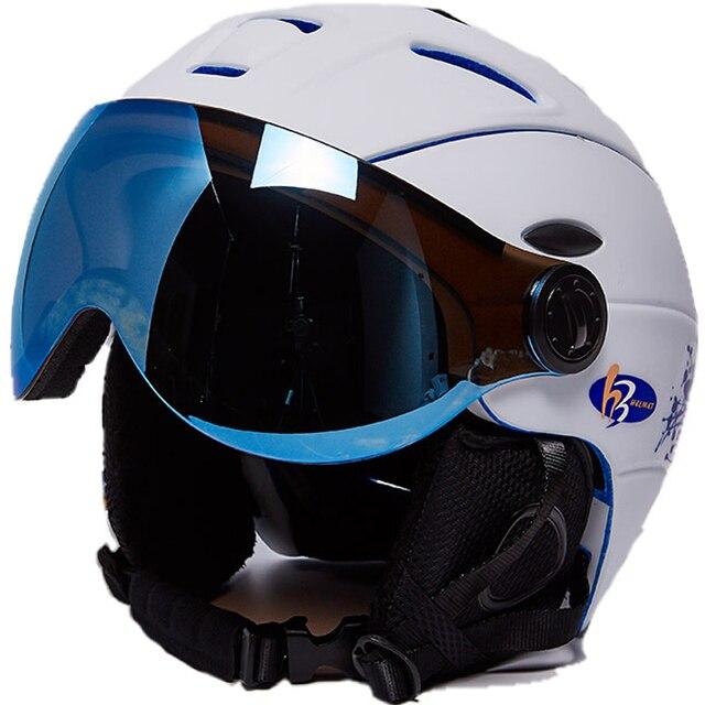 4dfea33899d03 Frete Grátis Homem Mulher Crianças Capacete De Esqui Óculos de Proteção  Máscara Inverno