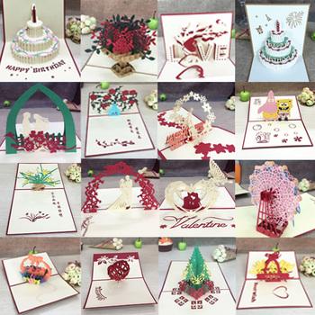 1 sztuk 3D Pop-Up kartkę z życzeniami kartki z kopertą wycinana laserowo kartka pocztowa na urodziny boże narodzenie valentine #8222 dzień dekoracja na przyjęcie ślubne tanie i dobre opinie HOMEBEGIN Festiwali Wielkanoc Ślub i Zaręczyny Rocznica Walentynki Święto dziękczynienia BIRTHDAY Graduation Biznes