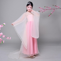 Children S Fairy Ancient Princess Classical Hanfu Chinese Folk Dance Traditional Costume Girls Performance Stage Costume