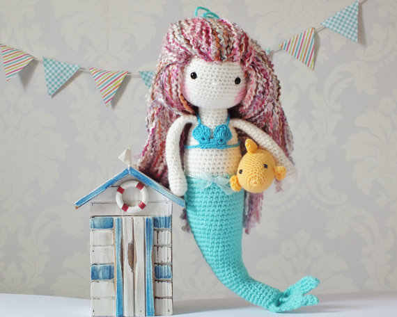 Amigurumi Mermaid doll pattern | Amiguroom Toys | 456x570