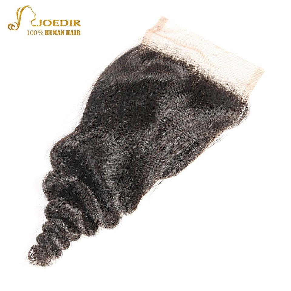 JOEDIR hår förfärgat brasilianskt löst djupt stängande 4x4 - Barbershop - Foto 1