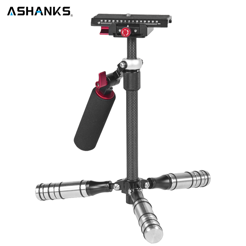 ASHANKS 0.5-3KG Camera Handheld Steadicam Carbon Fiber Steadycam Mini Stabilizer Tripods for DSLR Canon Nikon Sony Camcorder pixle vertax d14 battery grip as mb d14 for nikon dslr d600 d610 camera