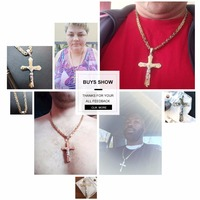 Christian Jesus Cross Crystal Necklace 3