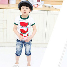 Fashion Cute Summer Kid Toddler Watermelon Tops Cozy T-Shirt Child Boys Short Sleeve Tee