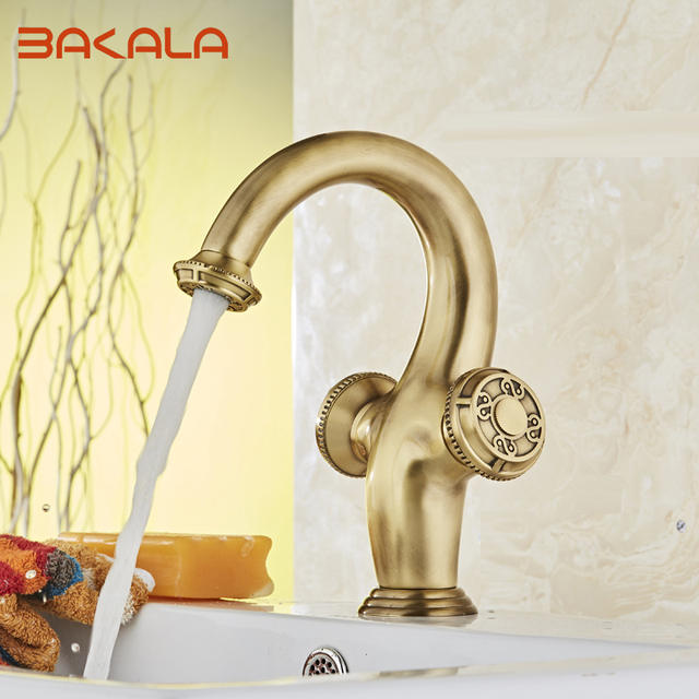 2017 Bakala Banheiro Single Lever Hole Retro Faucet For Bathroom Tap Waterfall Br