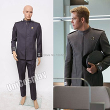 Star Trek Into Darkness Captain Kirk Spock Grey Uniform Costume