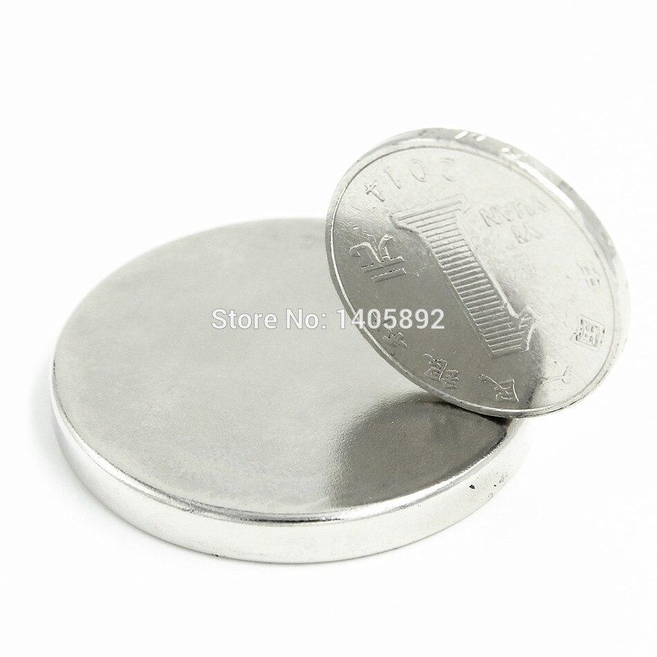 2pcs Super Powerful Strong Bulk Small Round NdFeB Neodymium Disc Magnets Dia 40mm x 5mm N35  Rare Earth NdFeB Magnet 40 x 10 x 5mm powerful ndfeb magnet silver 2 pcs
