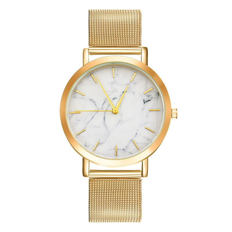 Funique Marble Alloy Quartz Watches For Women Clock Watch -6884