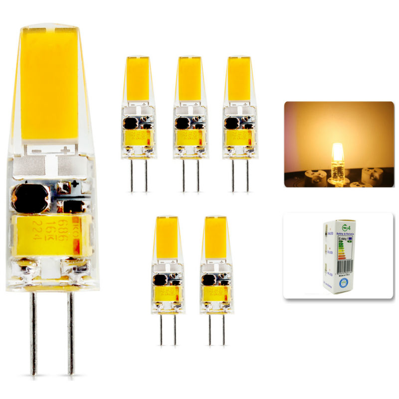 5Pcs/lot 2015 G4 AC DC 12V Led bulb Lamp SMD 6W Replace halogen lamp light 360 Beam Angle luz lampada led