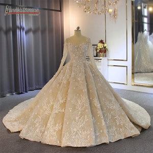 Image 1 - 2019 gelinlik formal dress long sleeves wedding dress