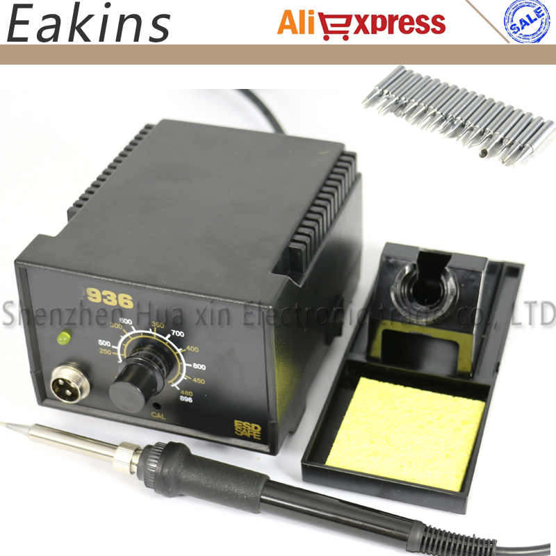 936 Soldering Station kit set Adjustable Electric soldering iron Welding repair kit SET 17pcs Solder Tips 900M-T.. EU 110V/220V dhl free shipping hot sale 220v hakko fx 888 fx888 888 solder soldering iron station with 10 free tips 900m t