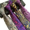 Moda Paisley Corbatas Lazos para Los Hombres A Estrenar Del Banquete de Boda de Negocios 8 cm Corbatas de Poliéster Corbata Novios Traje de Camisa Corbata regalo