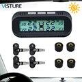 Windshield Solar TPMS Car Tire Pressure Alarm Monitor System Tyre Pressure Monitoring External Internal Sensor Visture D05W D05N