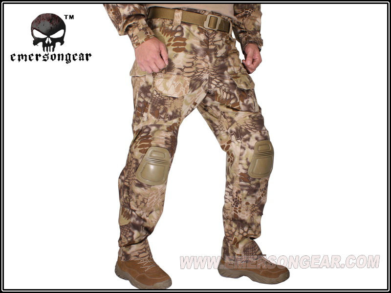Emerson Kryptek Highlander Camo <font><b>G3</b></font> <font><b>Pants</b></font> with knee pads <font><b>Combat</b></font> Tactical airsoft <font><b>Pants</b></font> EM7047 image