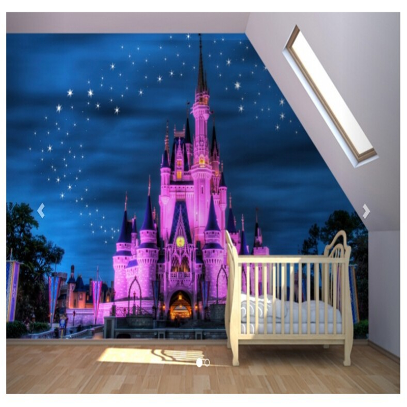 beibehang Fairytale Castle Mural wallpaper for walls 3 d childrens