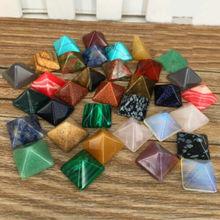 Set of 7 Chakra Pyramid Stone Crystal Healing -  ANOTHER