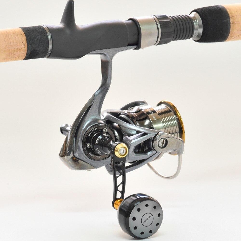 Gomexus Reel Knob For Shimano Stella Ultegra Nasci Sahara FI Sedona FI  Daiwa Certate Legalis LT 2000 3000 Reel Handle 35mm-in Fishing Reels from