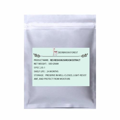 Сертифицированный USDA и EC органический красный экстракт гриба Рейши 20:1 светлая Ганодерма полисахарид - Цвет: 500g(17.65oz)