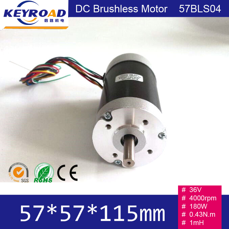 Circle Fuselage 36V 180W 0 43 N m 4000rpm 57mm 3 phase DC Brushless Motor 57BLS04
