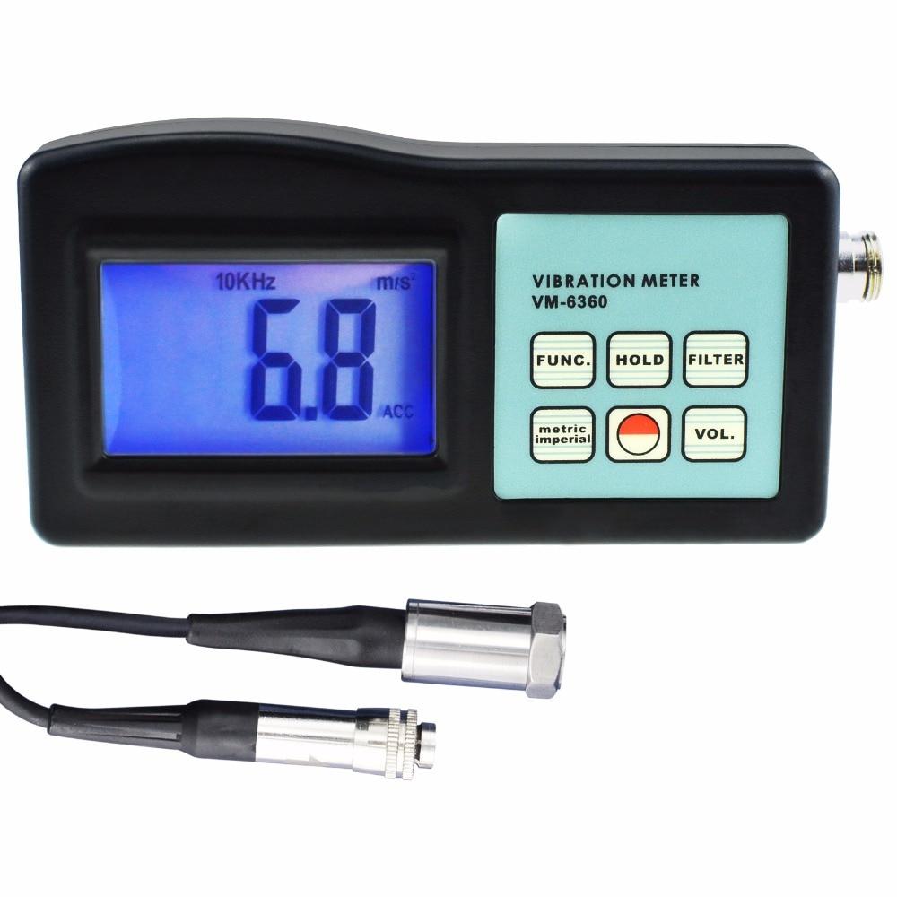 Digital Vibration Meter Vibrometer Gauge Tester Analyzer