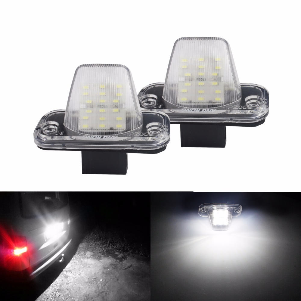 2x Ford Transit MK4 Bright Xenon White 8SMD LED Canbus Number Plate Light Bulbs