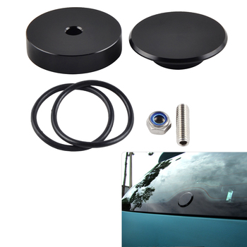 Car Rear Wiper Delete Kit O-ring Seal Nut Screw Block Off Plug Cap For Acura RSX DC5 Integra Mazda 3 Hatchback Speed Etc
