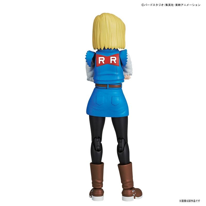WSTXBD Original Dragon Ball Z DBZ Figure-Rise Android No.18 PVC Figure Brinquedos Dolls Toys Figurals