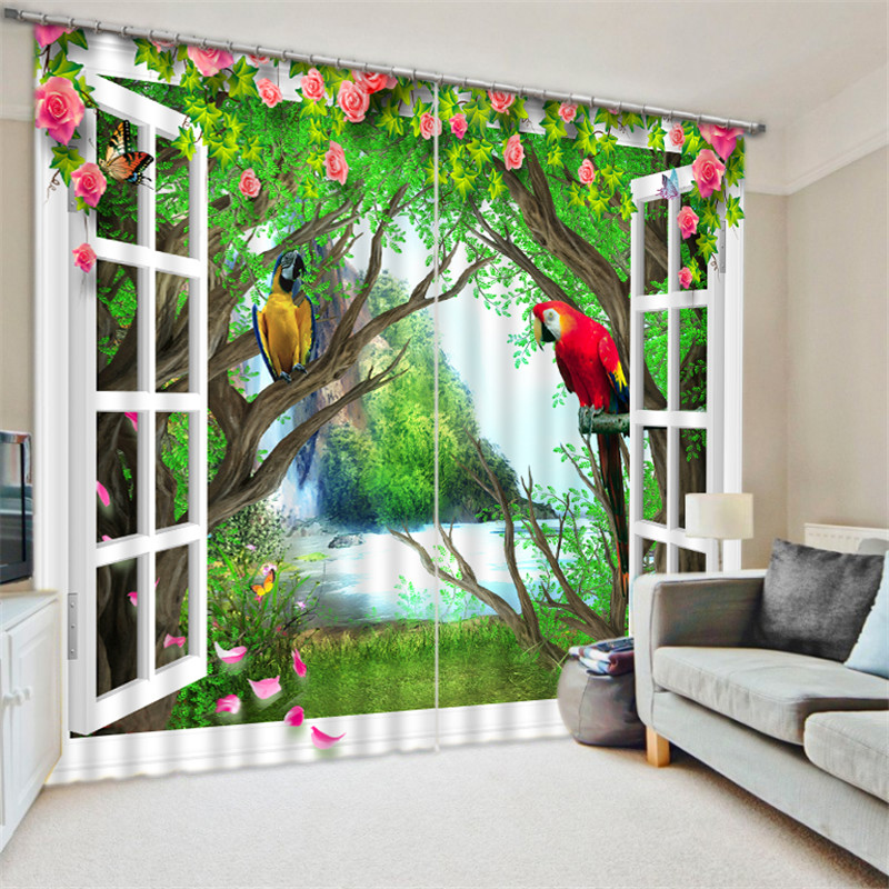 Window Curtains Pink flower Luxury Blackout 3D Curtains For Living Room kids Bedroom Drapes cortinas Rideaux Customized sizeWindow Curtains Pink flower Luxury Blackout 3D Curtains For Living Room kids Bedroom Drapes cortinas Rideaux Customized size