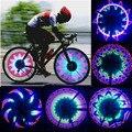 32 СВЕТОДИОДНЫХ Колесные Сигнальные Огни Красочная Радуга для Велосипедов Велосипеды основных на Цикл Говорил Светлый Горячий Продвижение оптовая