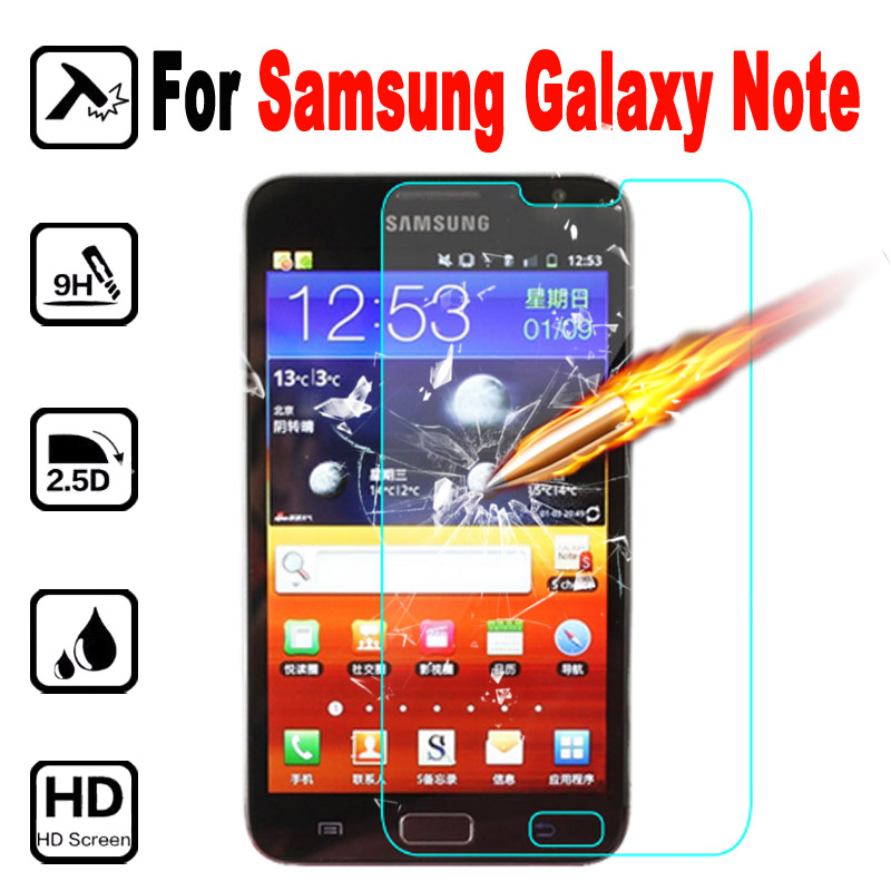For Samsung Galaxy N 7000 Tempered Glass Protective Film Tremp Screen Protector Glas On For Galaxy Note N7000 I9200 I 9200 Case
