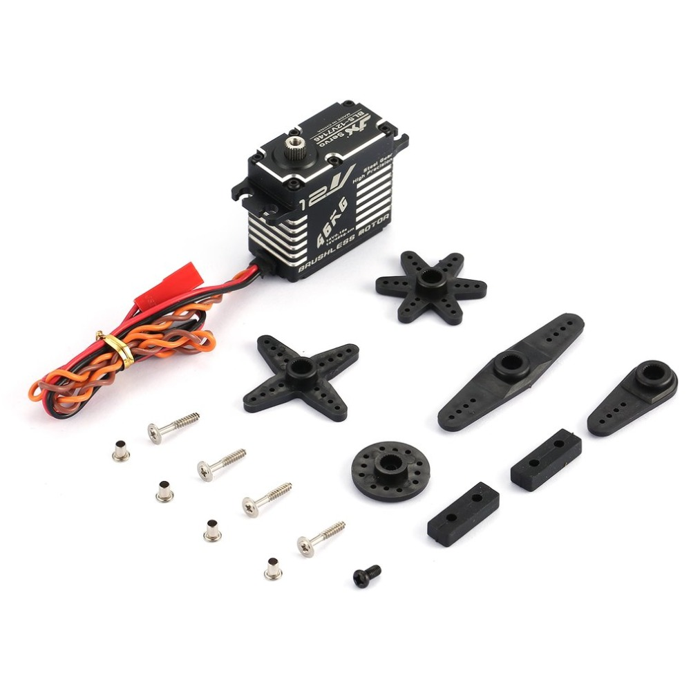 JX BLS-12V7146 Metal Universal Digital Servo with 47kg High Torque for RC Car Robot Airplane Fixed Wing Aircraft Drone Parts free shipping high quality metal digital robot servo rds3115 15kg for futaba jr rc car helicopter airplane robot machine