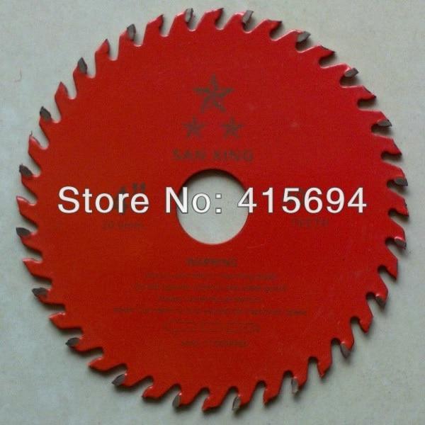 """Puittera 4 """"x 40T x20-16mm. Kvaliteetne punase värvi TCT saetera, ümmargune saetera, puulõiketera. Tasuta saatmine."""