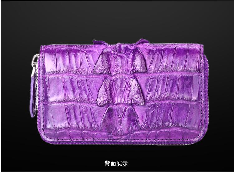 100% genuine crocodile leather skin bank card  holder/ key wallet/coin wallet, alligator skin card holder and case