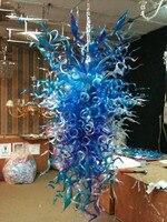 48 pollici di Colore Blu Vetro Borosilicato Lampadario Illuminazione per il Nuovo decorazione per la Casa