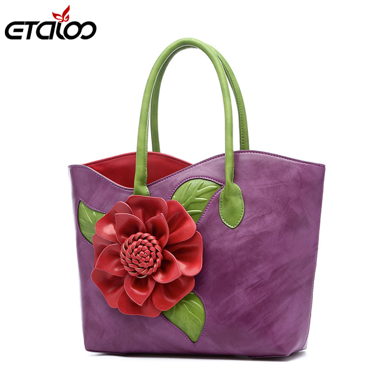 Women handbag Messenger bag handmade flower bag