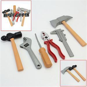 1 Satz Diy Builders Spielzeug Bau Spielzeug Früh Pädagogisches Spielzeug Für Kinder Handwerkzeug Spielzeug Axt Herrscher Zangen Schraubenschlüssel Hammer Schraubendreher
