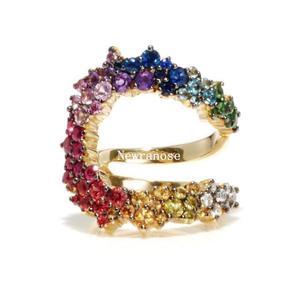 Image 5 - Newranos หลายขนาดแหวน 6 7 สี CZ แหวน Cubic Zircons แหวนสายรุ้ง FR ผู้หญิงเครื่องประดับ RWX001382