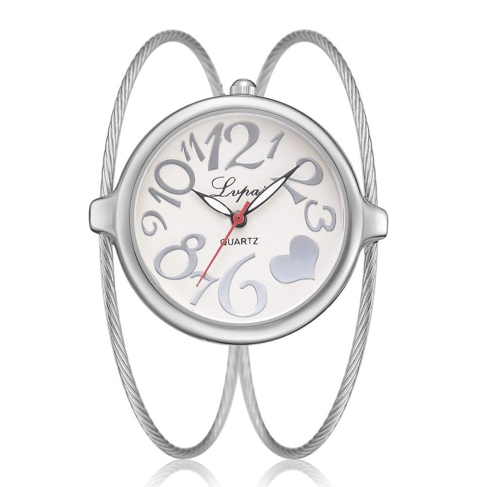 Fashion Woman's Watch Famous Top Brand Luxury Women Watches Bracelet Watch Ladies Stainless Steel Strap Wristwatch Silver