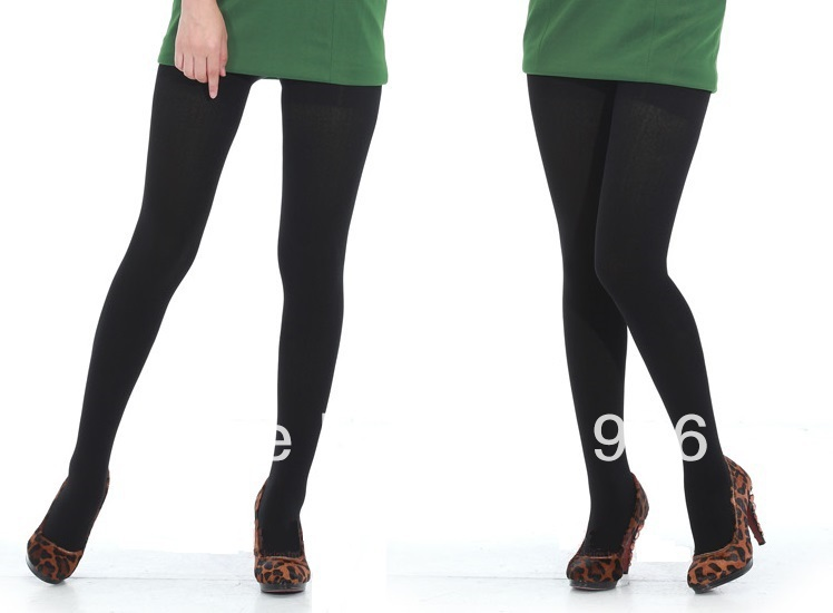 8464cac4309 Womens WINTER BLACK THICK TIGHTS Pantyhose Ladies Warm Thick Stockings-in  Tights from Underwear   Sleepwears on Aliexpress.com