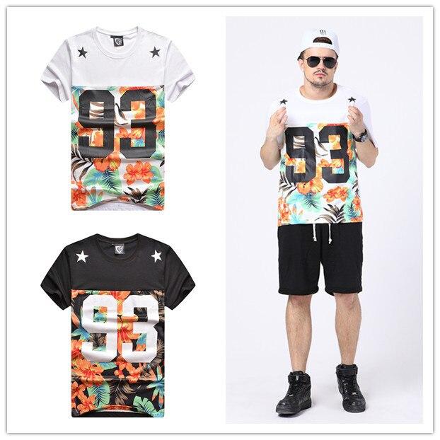 2f5ffcc01 fashion t shirt men hip hop t-shirt brand design tee shirt fitness floral camisetas  hombre skateboard swag tshirts