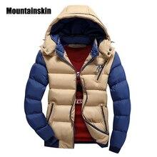 Mountainskin 2017 4XL куртка Для Мужчин's Мужские парки Толстые пальто с капюшоном Для мужчин Термальность Теплые повседневные куртки мужские Верхняя одежда брендовая одежда SA076