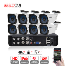 8CH AHD KITS 8CH 1080N DVR 30M IR 8PCS 1080P CCTV Camera Outdoor Waterproof IP66 Home Video Surveillance Security CCTV System