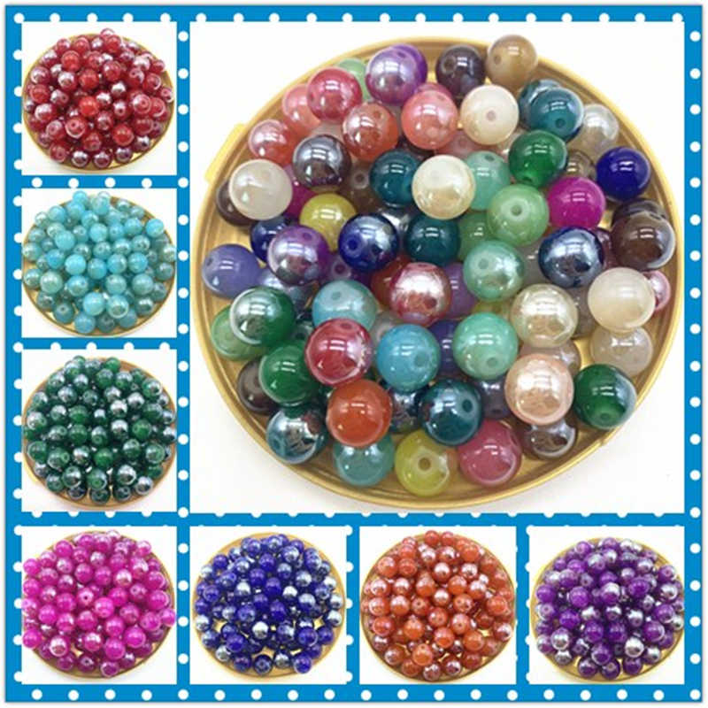 4 6 8 10mm New Glass Beads Fits for Handmade DIY Necklace Bracelet Jewelry Making Wholesale