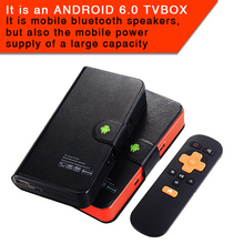 Bluetooth speaker charging treasure android TV field 5000mah energy financial institution with bluetooth speaker with kodi 17.zero android 6.zero television field