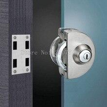 Glass Door Lock, Latches,304 stainless steel,without hole,One door,Bidirectional unlock, Frameless glass door CP398