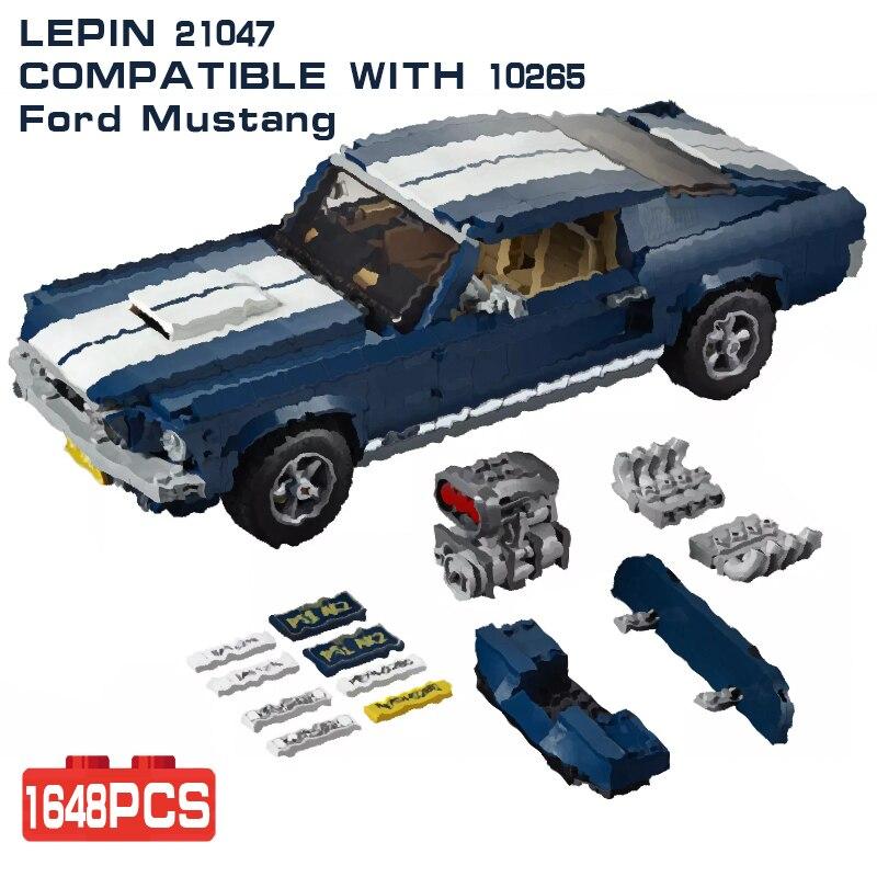 LEPIN Technique 21047 Créateur D'experts Ford Mustang compatible avec Legoing 10265 Ensemble blocs de construction Briques Assemblé bricolage Jouets Tech