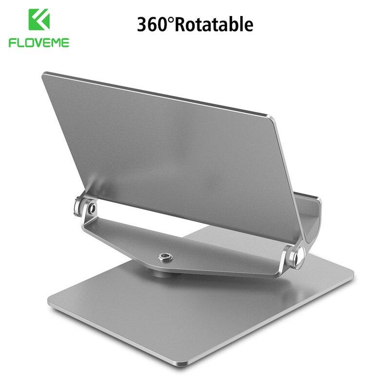 imágenes para Floveme aluminio de escritorio tableta del teléfono soporte para iphone 7 6 6 s más tabletas ipad para samsung huawei xiaomi phone holder soporte