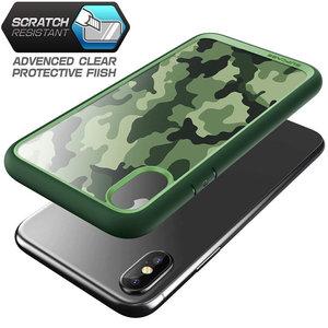 Image 5 - SUPCASE For iphone X XS 케이스 UB 스타일 프리미엄 하이브리드 보호 케이스 TPU 범퍼 + iphone X Xs 5.8 인치 용 뒷면 커버 (Camo/Green)